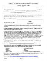 Secondary Homeschool Affidavit